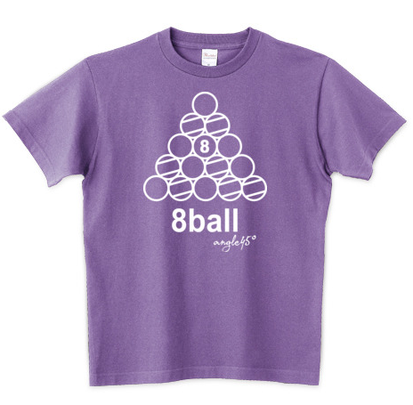 Billiards T-shirts 8ball Rack