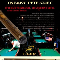 TIGER PRODUCTS sneaky pete cues