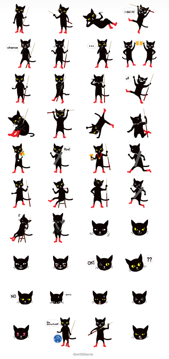 a45_billiards_line_sticker_blackcat