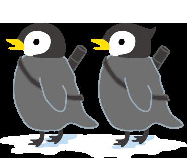 a45Billiards オリジナルLINEスタンプ 双子ペンギン