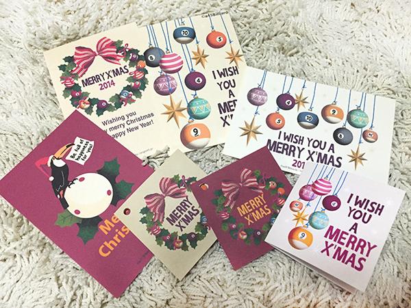 ビリヤード クリスマスカード